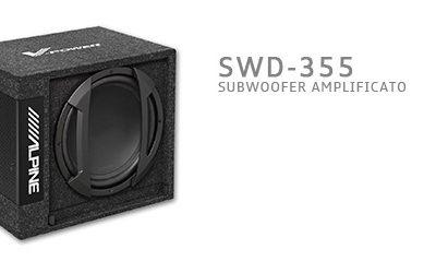SWD-355, SubWoofer Amplificato in cassa