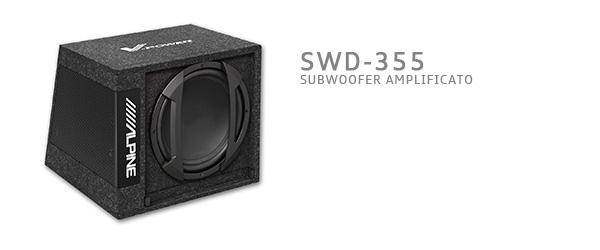 subwoofer amplificato alpine SWD-355
