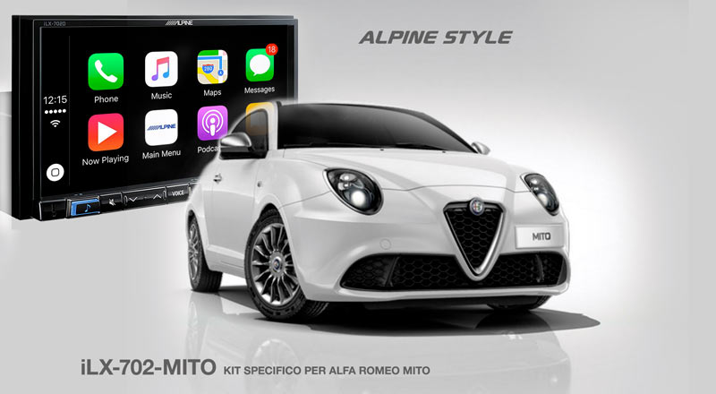 immagine alpine ilx-702-mito kit specifico per alfa romeo mito